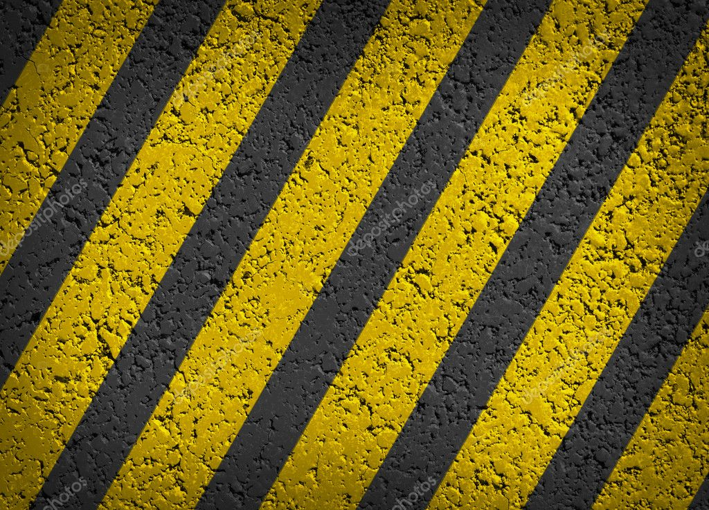 Black Stripe Yellow Paint