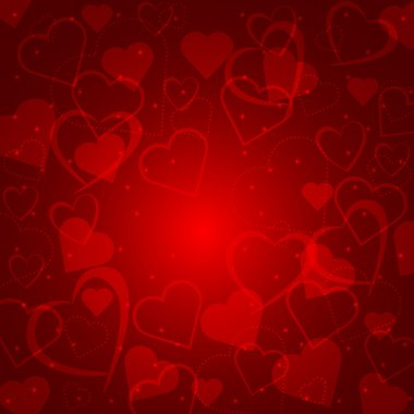 Abstract background with hearts of love