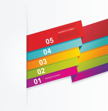 Design template numbered banners.