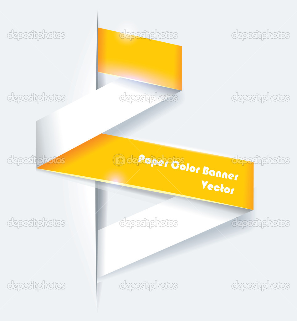 Set of origami banners, vector illustration