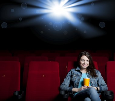 Woman in cinema