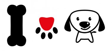 I love dog sign with bone,pup