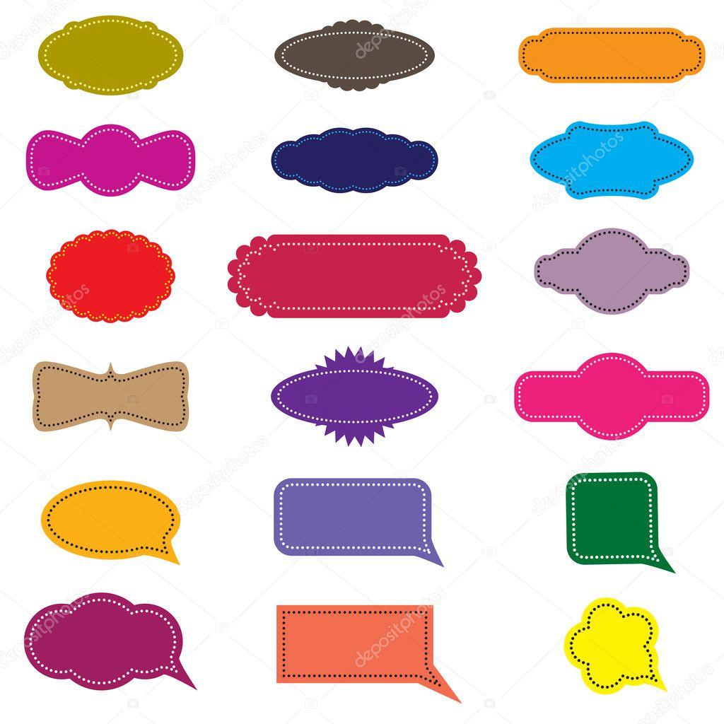 Colorful design retro frames and speech bubbles — Stock Vector ...