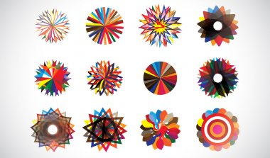 Colorful circular concentric geometric shapes