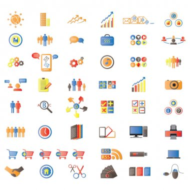 Web Icons, Internet & Website icons, signs and symbols, office & universal icons, icons Set, web buttons - Vector clip art vector