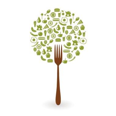 Foods tree stock vector