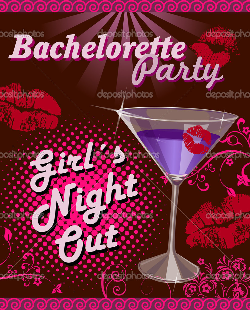 Illustration for bachelorette party