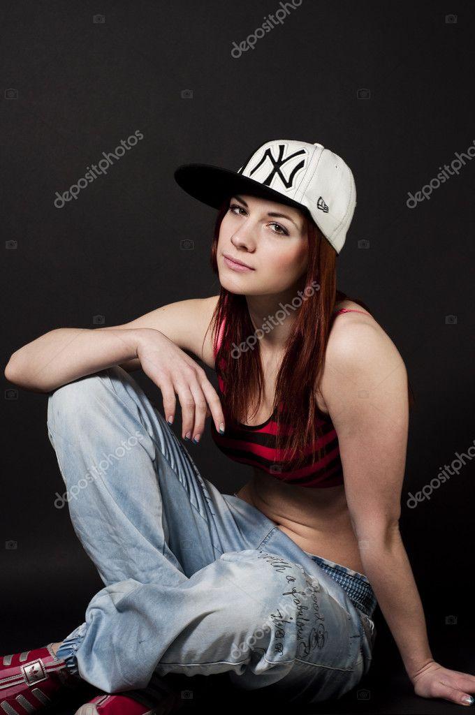Сексуальная девушка в стиле хип хоп фото — 9