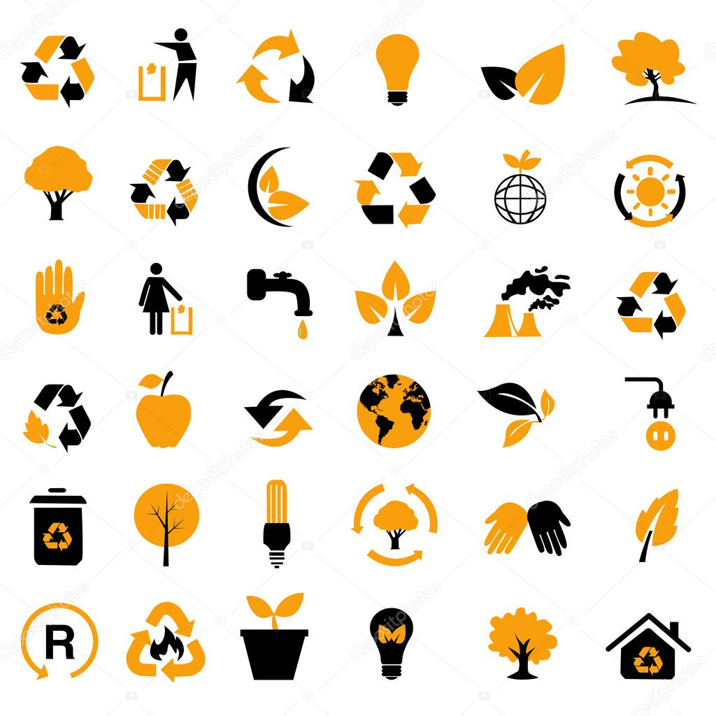 set of environmental / recycling icons