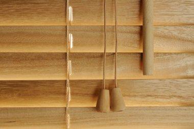 Wooden blind details