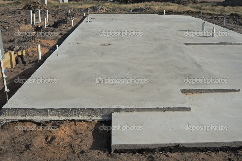 Awesome Concrete Slab Prepared For Residential House Construction With Utility  Pipes Within Slab U2014 Photo By Illarionovdv