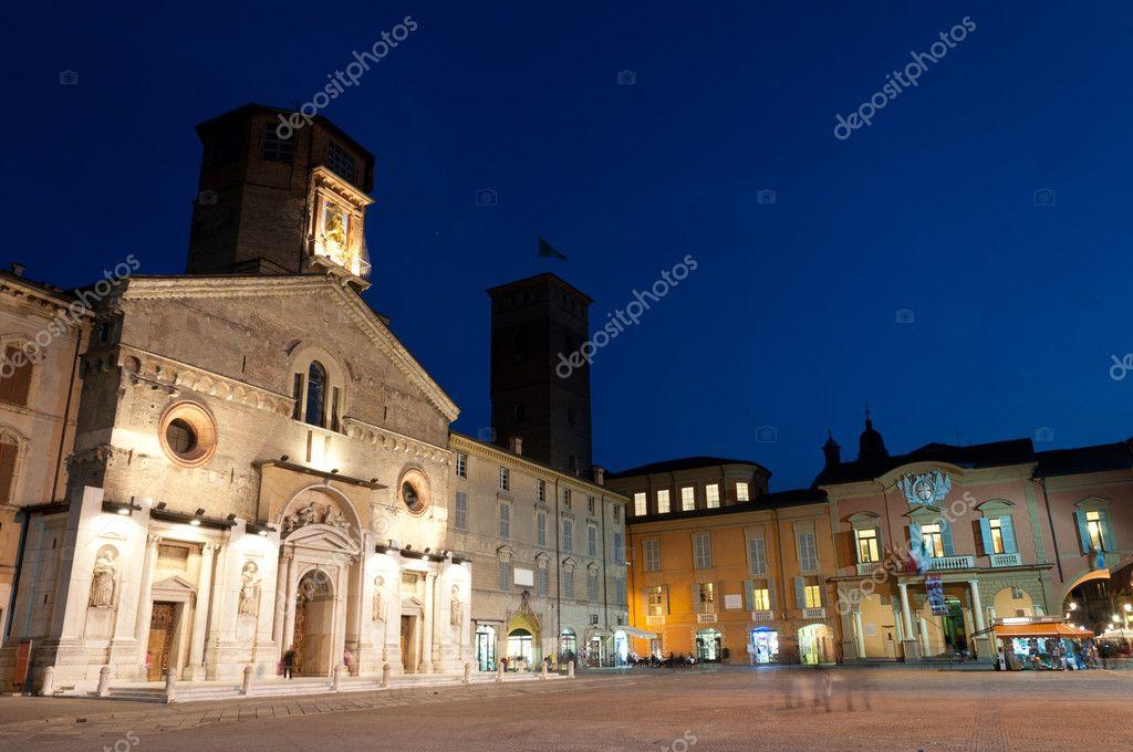 Katedrála A Radnice V Reggio Emilia Stock Fotografie