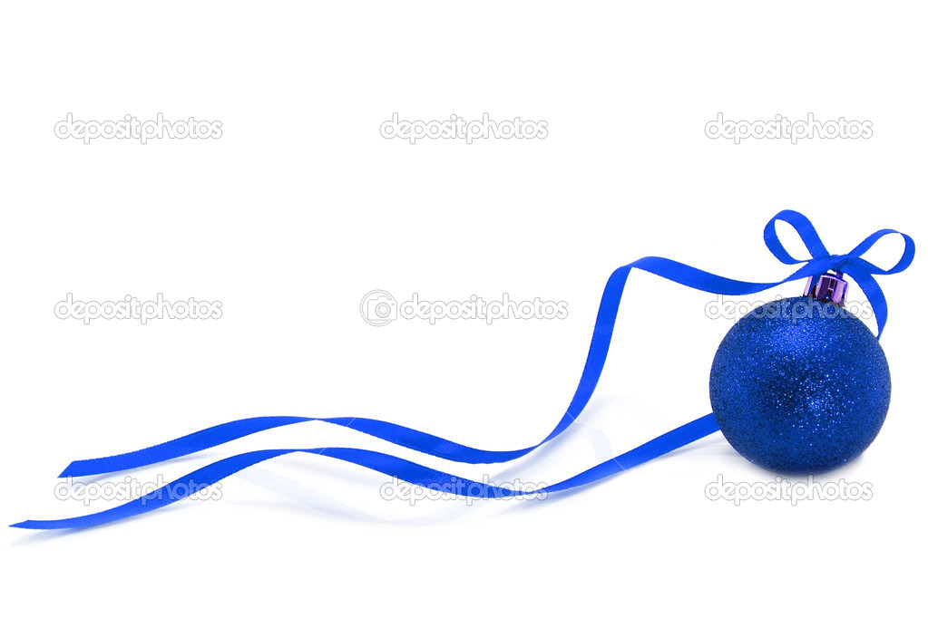 Bola de navidad azul con cinta foto de stock rozelt - Bola de navidad con foto ...