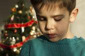 Fotografia infelice bambino Natale