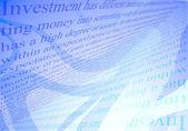 investice koncepci pozadí