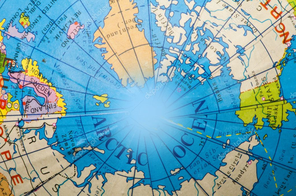 Физическая карта полушарий Земли на русском языке
