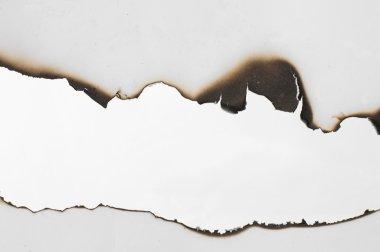 Burned paper