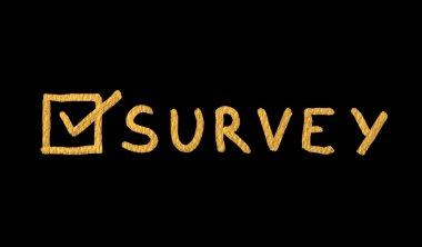 Word Survey over black