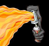 Fotografia fuoco palloncino graffiti