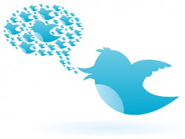 Blue bird chirps