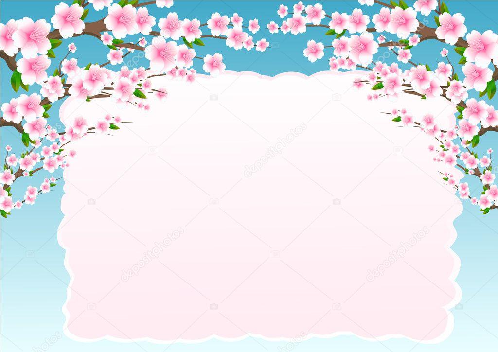 Jewish celebrate pesach passover spring border flowers