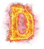 Fotografie Fire letter D
