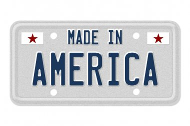 Made in America License Plate
