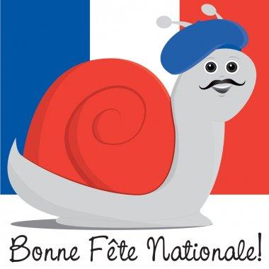 Bastille Day card in vector format.