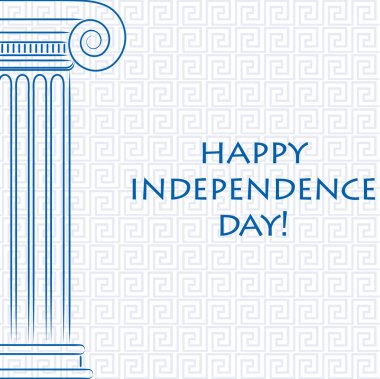 Happy Independence Day card for Greece in vector format.