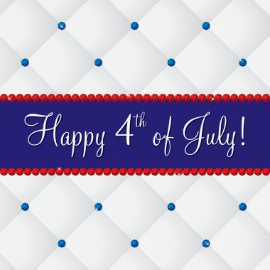 4th of July card in vector format.