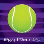 Fényképek fényes tenisz labda Boldog Apák napja kártya vektoros formátumban