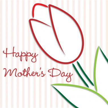 Happy Mother's Day tulip card in vector format.
