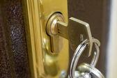domácí zámek a klíč