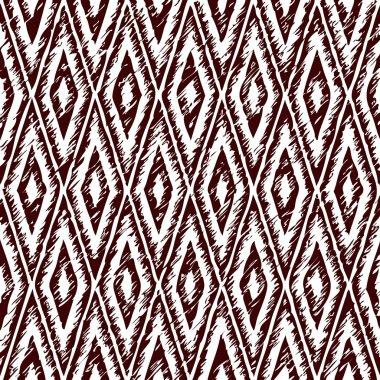 Rhombs - old ethnic canvas