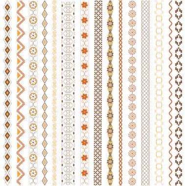 Various motifs colored clip art vector