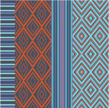 Various colored motifs