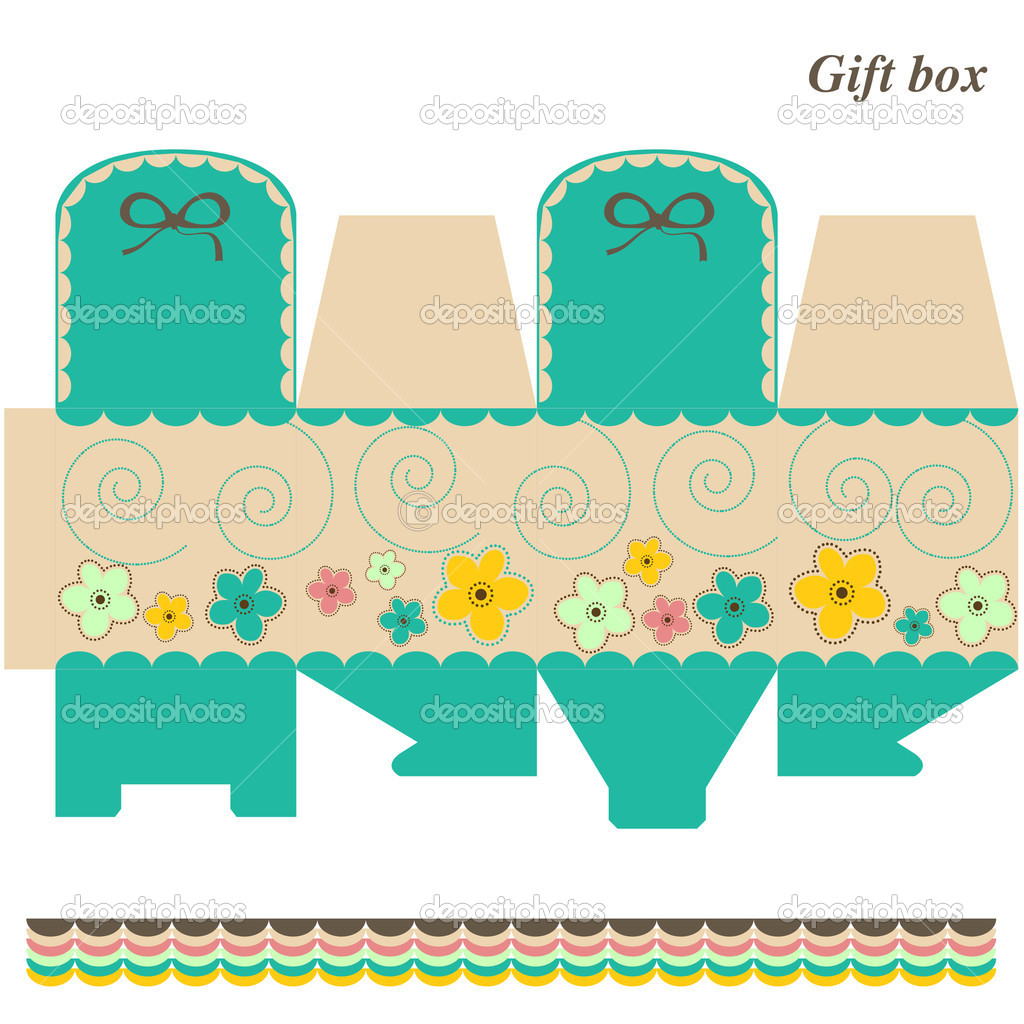 Frame template gift box