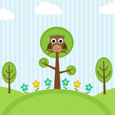owl on trees