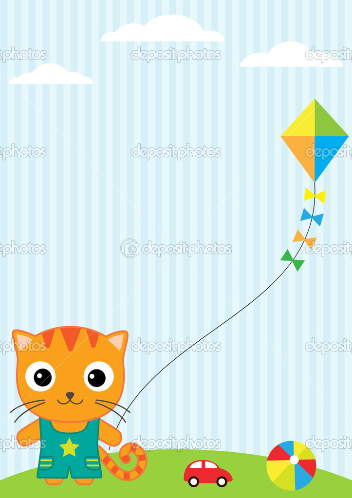 Cat and kite