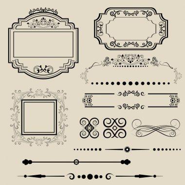 Ornamental borders and frames