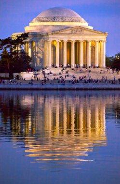 Jefferson Memorial and Tidal Basin Evening
