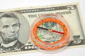 kompas na nás dolarové bankovky