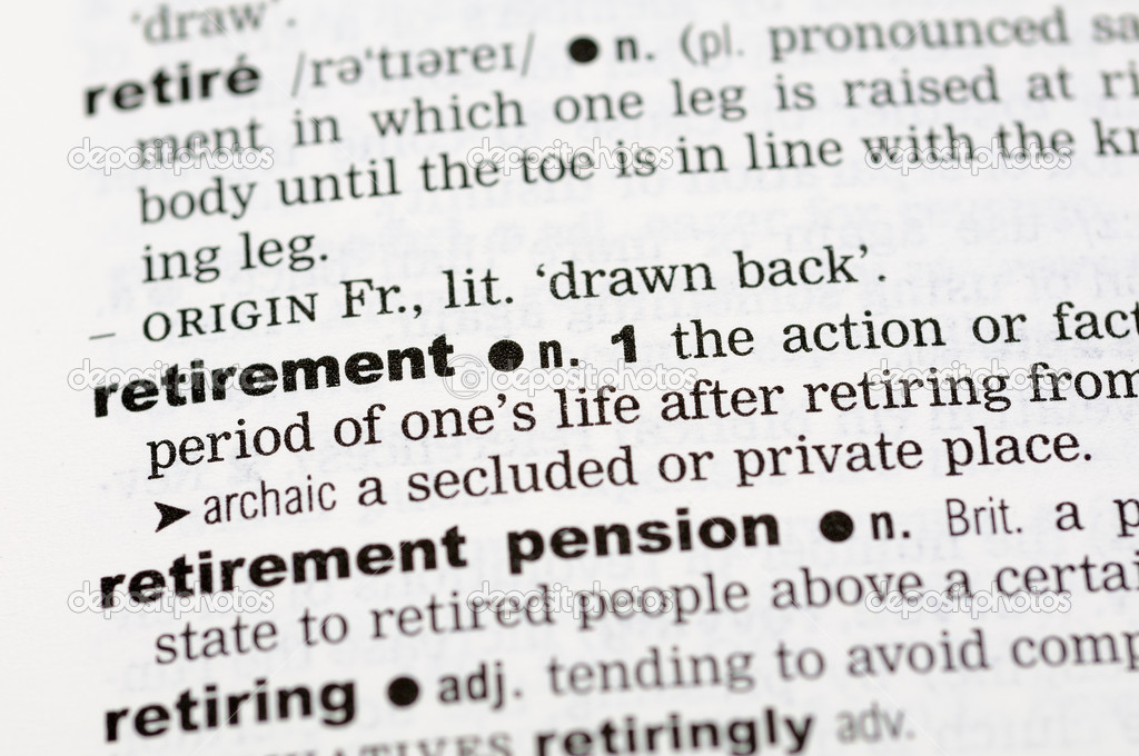 Dictionary definition of retirement — Stock Photo © bedobedo