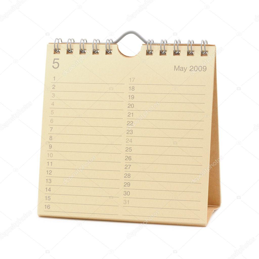 Calendar May 2009 Stock Photo C Bedobedo 9476879