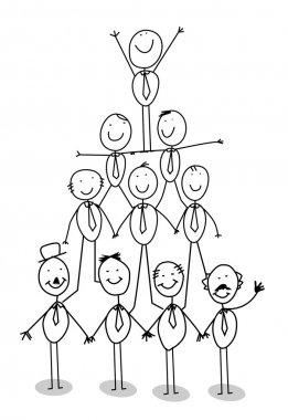 Organization chart teamwork