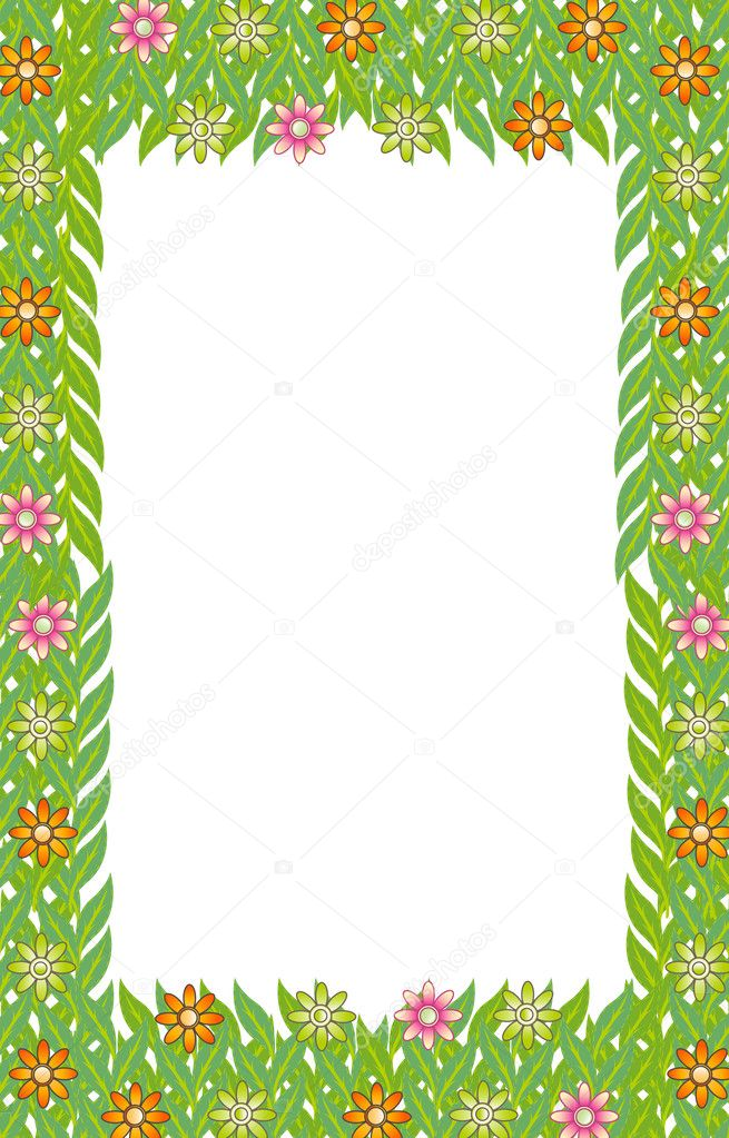 flor marco verde hoja — Archivo Imágenes Vectoriales © redrockerz99 ...
