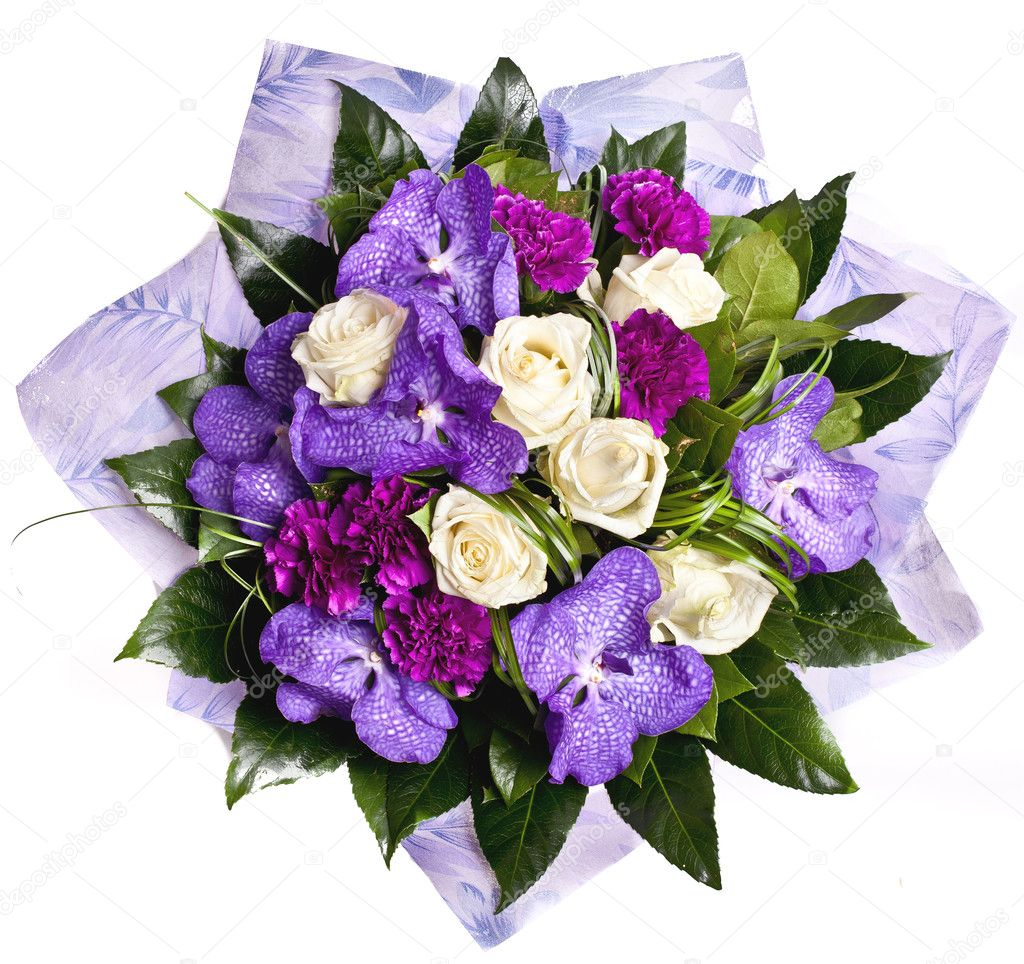 Bunch of violet flowrs