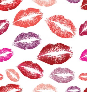 Vector seamless background. lips prints stock vector