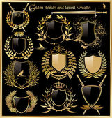 Fotografie Golden shields and laurel wreaths