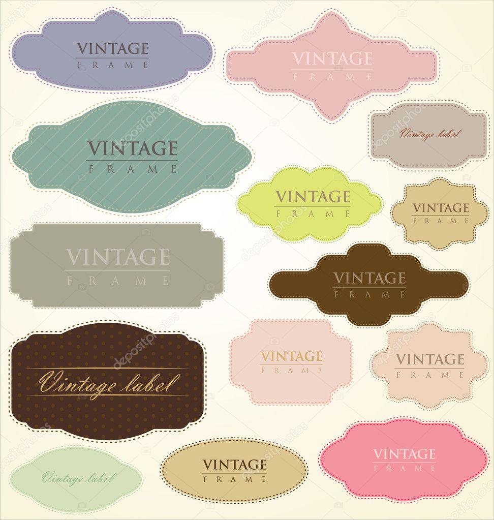 Vintage labels - vector set